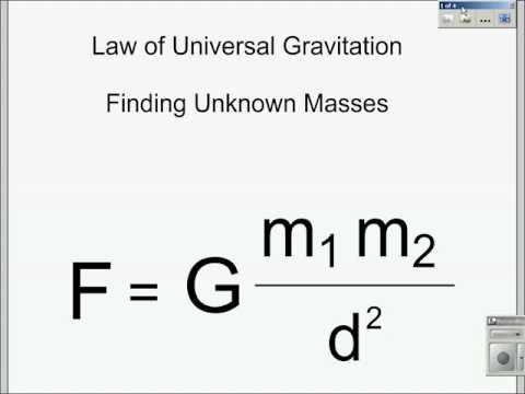 Universal Gravitation Calculating Masses