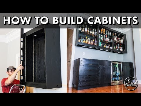 How To Build and Install DIY Frameless Kitchen Cabinets // Home Bar Pt. 1