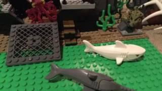 White Shark vs Saw Shark-Lego