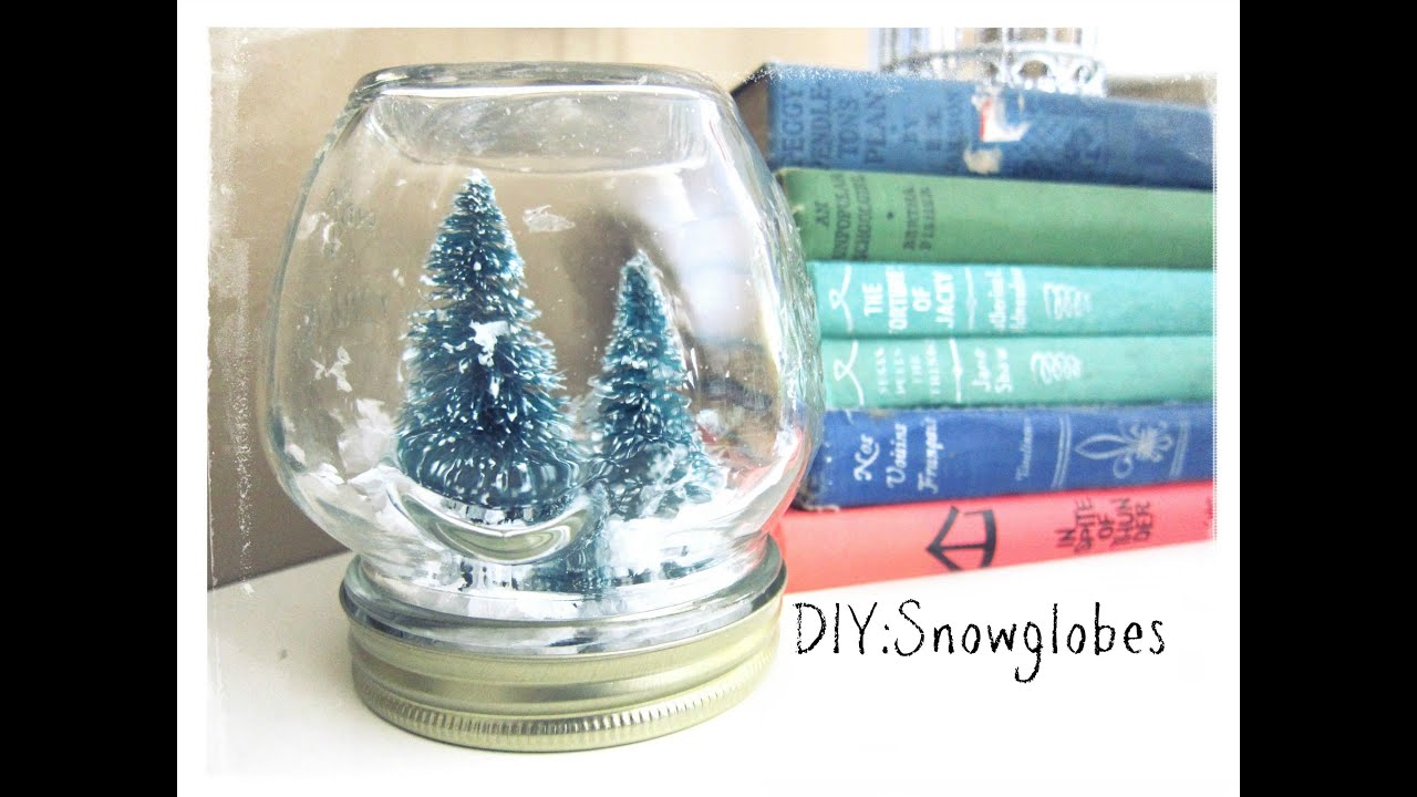 Youtube Christmas Craft Ideas Part - 18: Christmas Craft:Snowglobes(no Water) - YouTube