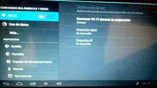 Error en tablet no se activa wifi