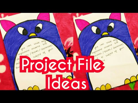 Project File Ideas For School   Project File Decorate   Project Design   Project File Making Ideas