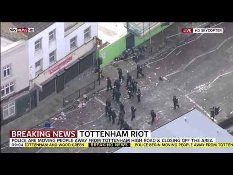 Tottenham, London Riots coverage | SKY News | 7th August 2011 | HD