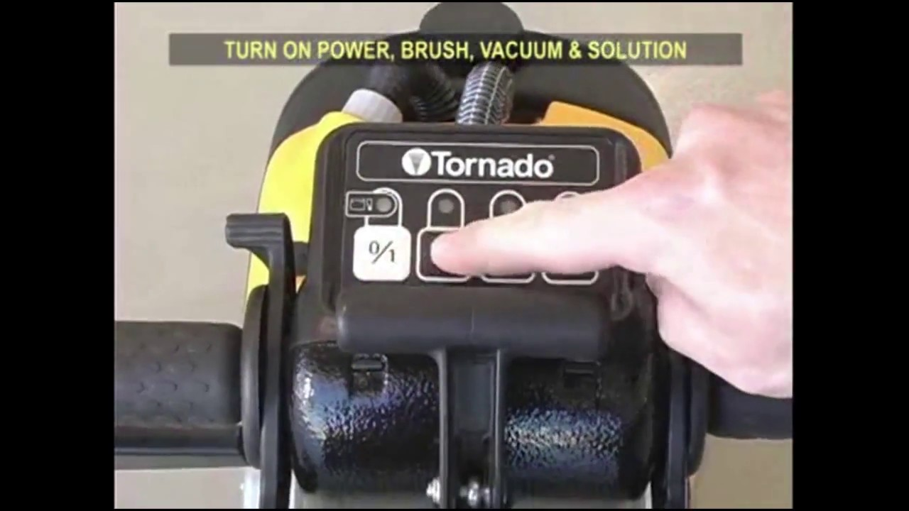 tornado bd-14 compact floor scrubber - operation guide - youtube