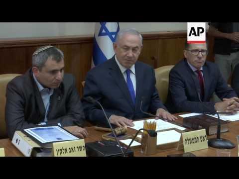PM Netanyahu on UNESCO decision, Syria ceasefire