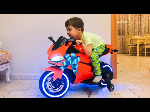 Funny Tema Ride On Sportbike Pocket Bike Cross Bike Unboxing Surprise Toys For Kids