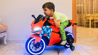 surprise toy unboxing power wheels ride on sportbike family fun playtime toys video for kids