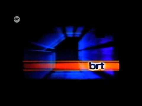 TV-ident :  BRT TV1 (Belgium)  Skyline of Brussels (1986)