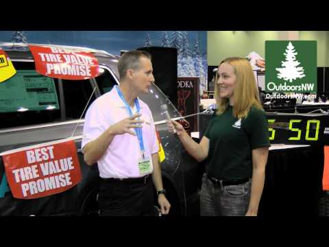 Diane Rudholm of OutdoorsNW interviews Les Schwab Tires