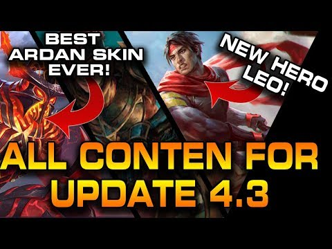 NEW VAINGLORY HERO LEO⭐ (Abilities + Thoughts) And ALL NEW 4.3 SKINS | Netherknight Ardan 🔥🤯