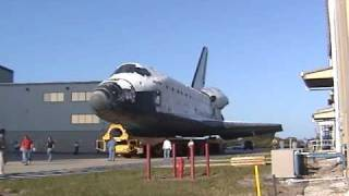STS-132 Rollover space shuttle Atlantis moves from the OPF to VAB for stacking and launch