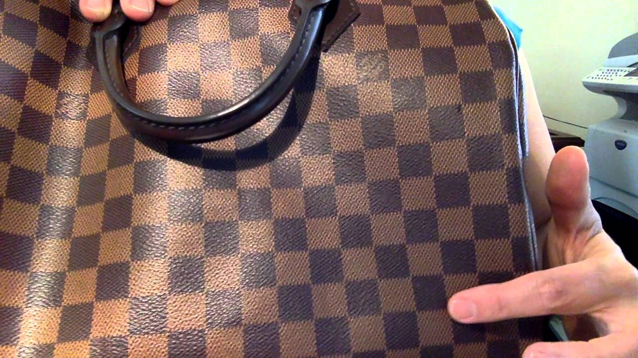 693460050f76a Problems and Wear and Tear with Louis Vuitton Speedy 30 Bandouliere Damier  Ebene