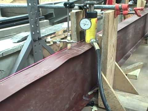 Local Flange Buckling Steel W Section Beam Loaded At