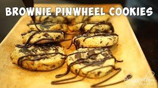EGGLESS BROWNIE PINWHEEL COOKIES