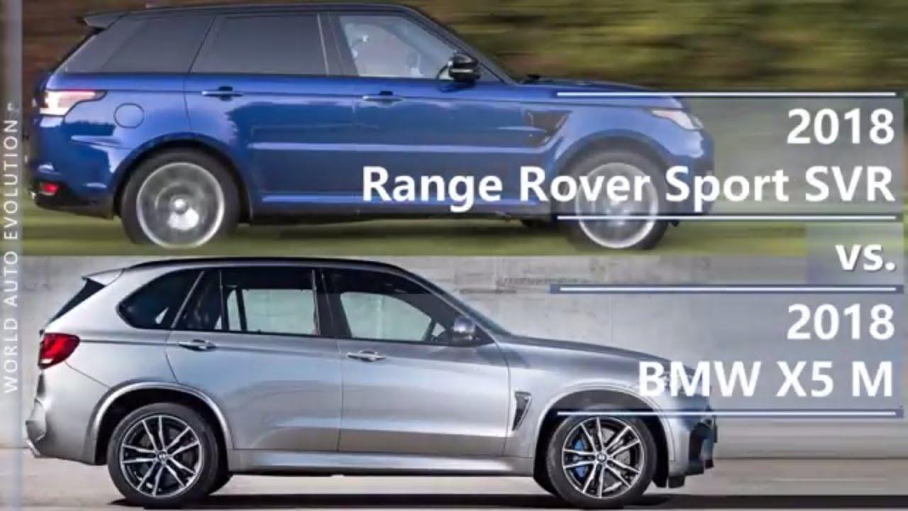 2018 Range Rover Sport Svr Vs Bmw X5 M Technical Comparison