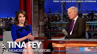 Letterman's top 10 memorable guests