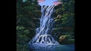 как нарисовать водопад видео