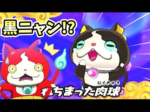 ジバニャンの色違い妖怪黒ニャン発見妖怪ウォッチ3スキヤキ Yo Kai Watch