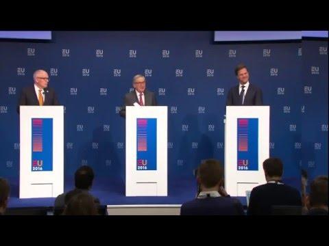 Juncker & EU Commissioners visit the Dutch Presidency
