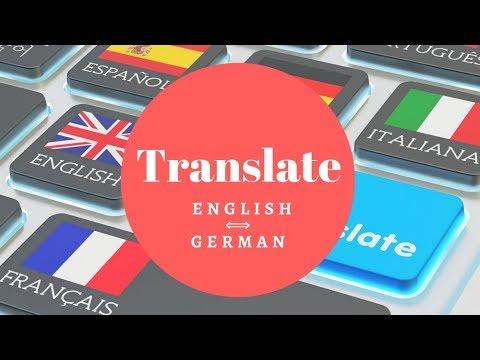 Übersetzung Englisch --- Deutsch