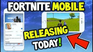 FORTNITE MOBILE RELEASING AUJOURD'HUI (IOS): GET IT FOR FREE NOW NO CODE NEEDED! (Fortnite Battle Royale)