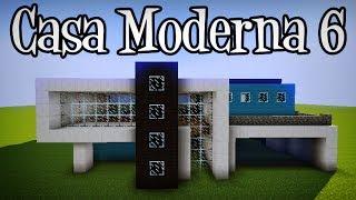 Tutoriais Minecraft: Como Construir a Casa Moderna 6