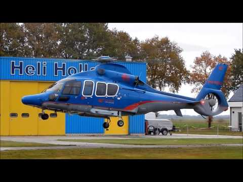 PH-HHO (EC155) Take-off from Heli-port Emmen