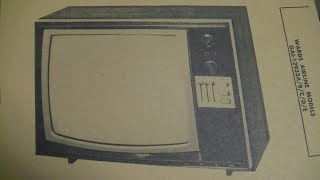 1974 Wards Airline Portable Color Tube Television Repair Assessment pt1