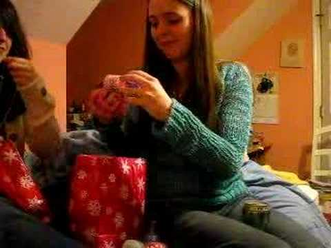 opening gift from catie