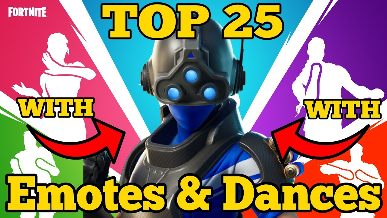 Fortnite Top 25 Emotes & Dances with Trilogy Outfit Rare