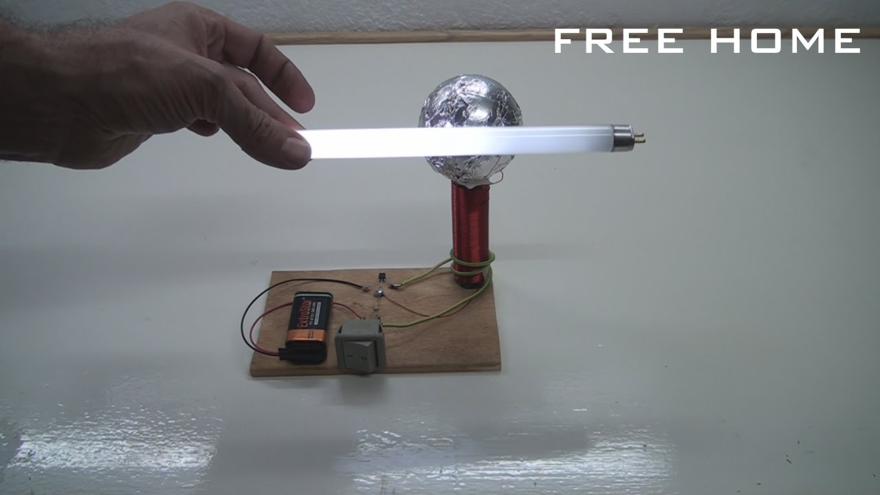 Tesla Coil Wireless Electricity Transmission Free Home