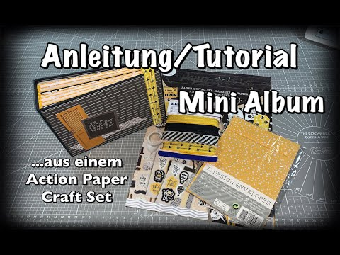 Anleitung/Tutorial Mini Album aus einem Action Haul Paper Craft Set,Mini Book,basteln mit Papier,DIY