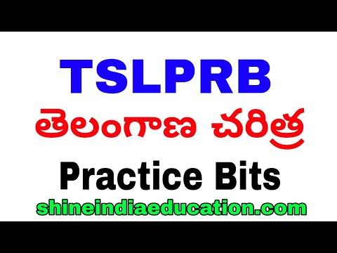 TSLPRB Telangana History Practice Bits