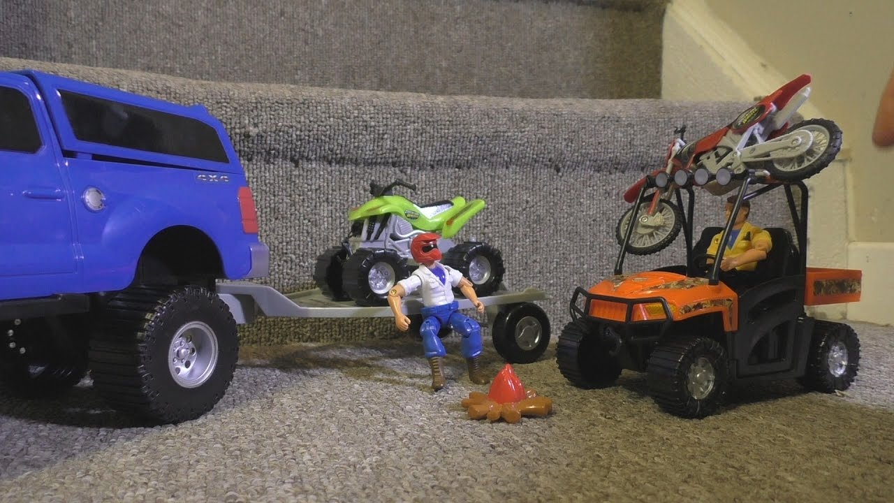 Toy Cars Off Road Atv Dirt Bike Action Video Kids Fun Zombies