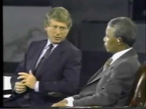 1990 Town Hall Meeting with Nelson Mandela on Palestine with Ted Koppel Part 2