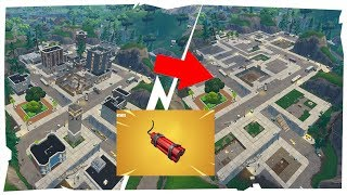 Tilted Towers DESTROYED using ONLY DYNAMITE!! - Fortnite: Battle Royale