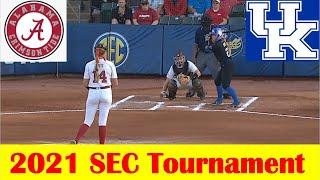 Kentucky vs Alabama Softball Game Highlights, 2021 SEC Tournament Quarterfinal