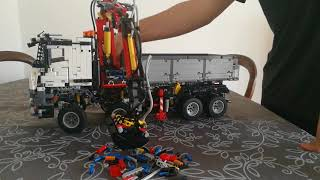 Lego arocs working with pneumatics