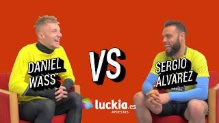 El cara a cara de Luckia entre Daniel Wass y Sergio Álvarez