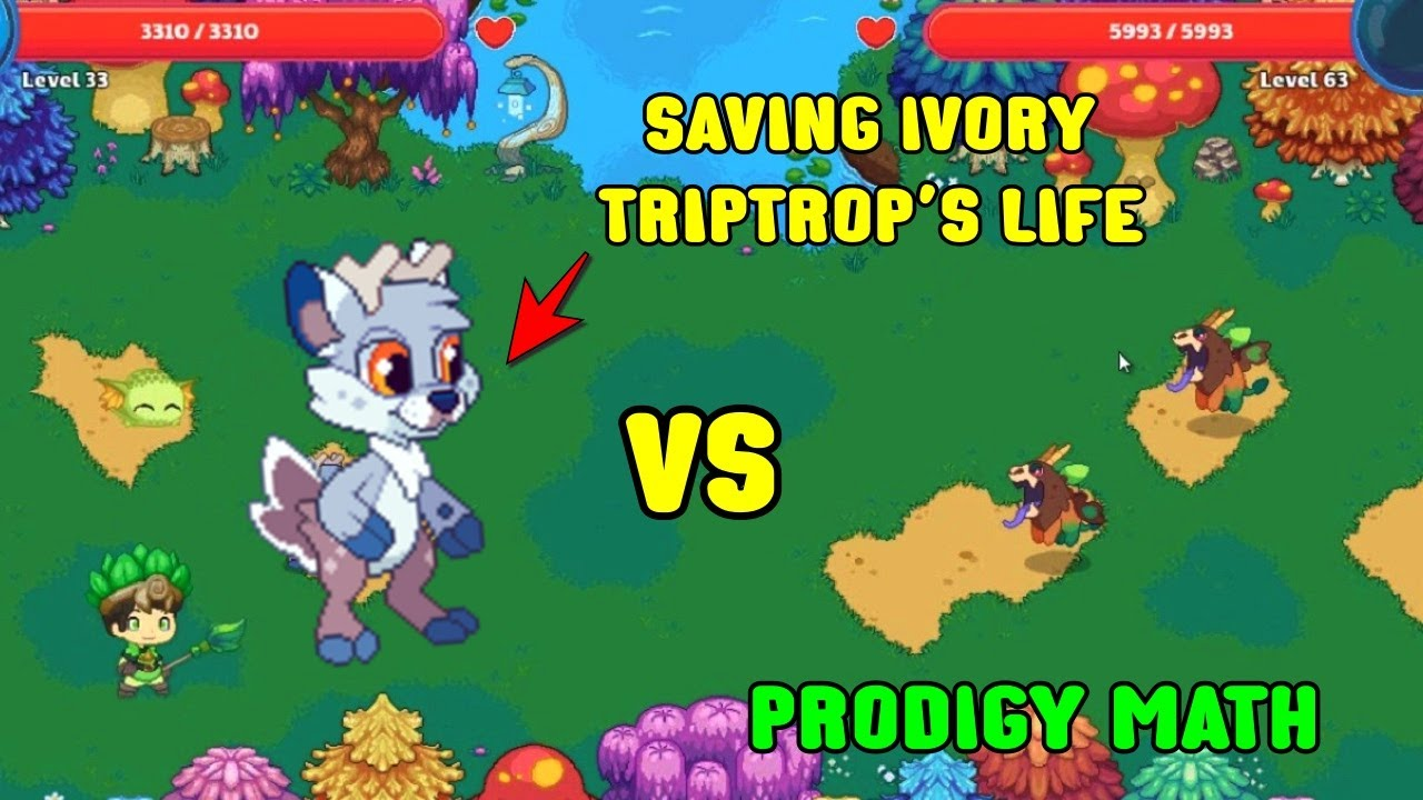 Saving Ivory Triptrop S Life Prodigy Math Game Youtube