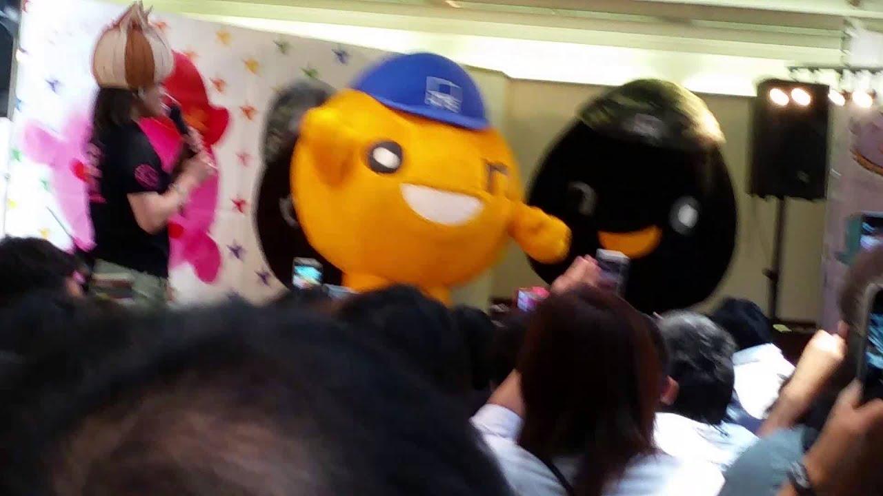 超レア人気のonちゃんhtbキャラクター鳩のものまね 北海道物産展イベントにて