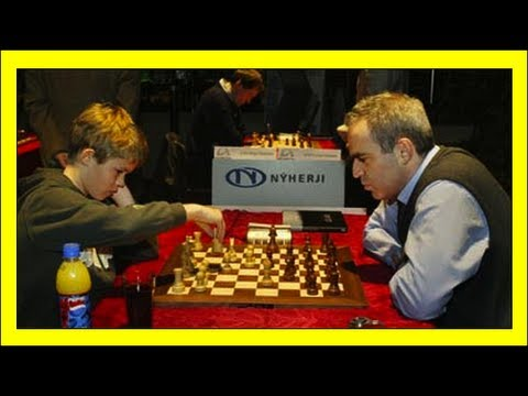 Magnus Carlsen vs. Garry Kasparov  Reykjavik Rapid 2004