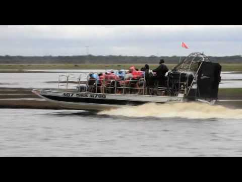 Airboat Rides at MidWay! Christmas, FL - St Johns River - YouTube