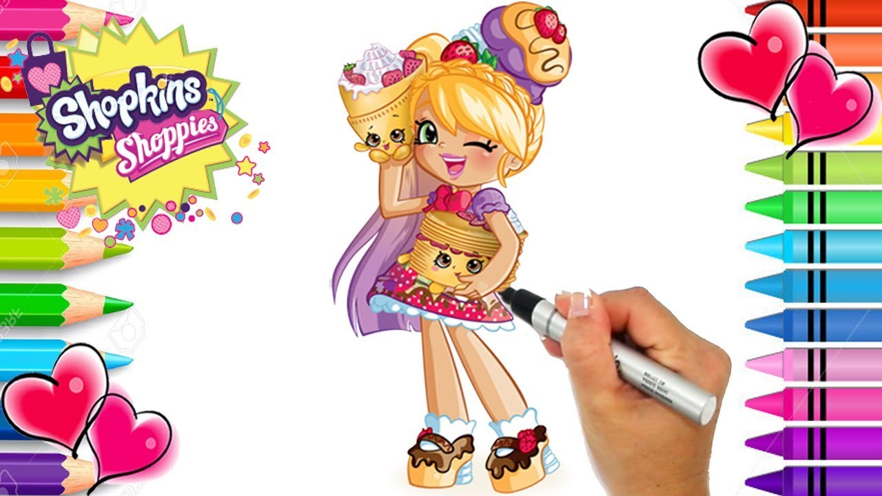 Shopkins Shoppies Pam Cake Coloring Page Shopkins Coloring Book