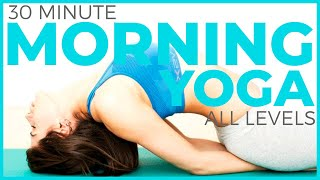 30 minute morning yoga  | sarahbethyoga mindful morning series  (all levels)