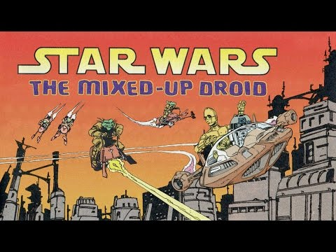 1995 Star Wars The Mixed-Up Droid Comic Story Book & Cassette