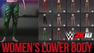 WWE 2K18 Women's Creation Suite: Lower Body Gear