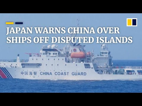 Diaoyu-Senkaku islands spat deepens as Japan warns China over coastguard ships in East China Sea