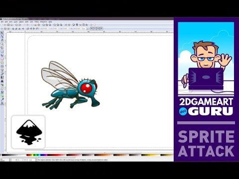 Animate a flying insect (wing motion) in Inkscape