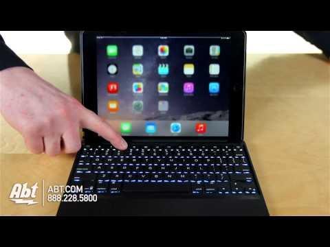 Zagg Folio Backlit iPad Air 2 Keyboard Case ID6ZFKBB0 Overview